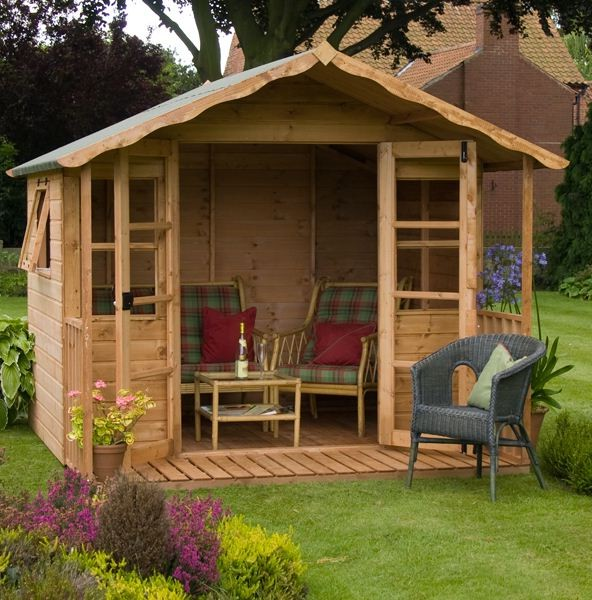 Top 5 summer houses for your garden ideas for home for Garden designs with summer house