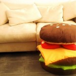 Funny pillow-burger