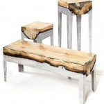 Wood Casting - furniture made of metal and wood from Hilla Shamia