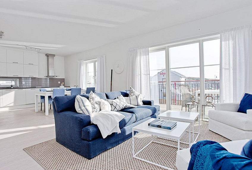 The color in the interior with cornflower | Ideas for Home
