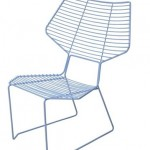 Summer cottages chair with metal frame