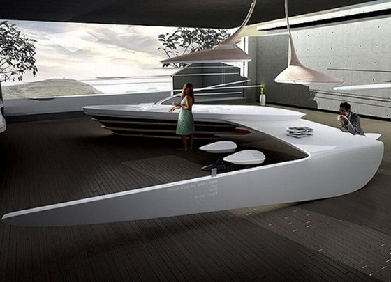 Futuristic Kitchen the futuristic kitchen design | ideas for home garden bedroom