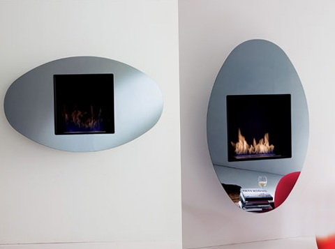 2-mirror in the fireplace