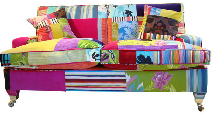 Bright furniture in the patchwork