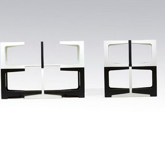 1-Black and white shelves