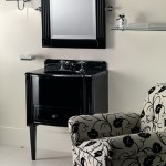 Dressing table in dark colors