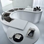 Rounded table in the kitchen