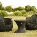 Beautiful furniture made ​​of basalt fiber for the garden