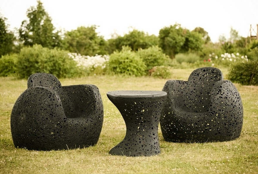 1 beautiful furniture of basalt fiber garden