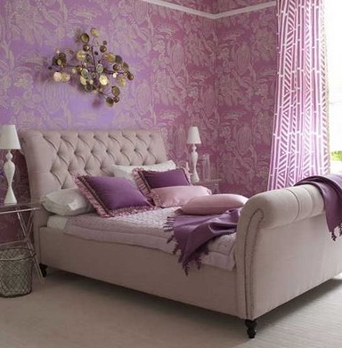Lavender color in the interior ideas for home garden for Bedroom ideas lilac