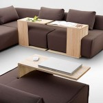 Chic chocolate brown sofa