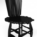 Glamorous black chairs