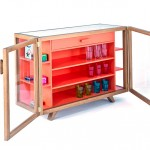 Beautiful glass cabinets from Vitrina Collection