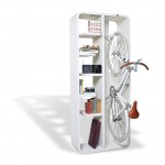 Bookcase or shelf for bicycle