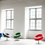 Bright and beautiful chair with a round shape