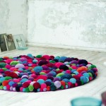 Bright and magic carpets of pompons