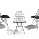 The chair is constructed of metal mesh