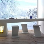 A cozy fireplace table in your home