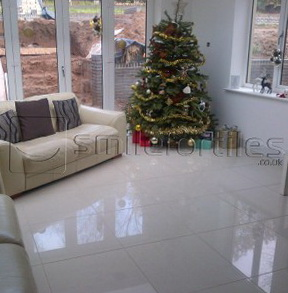 1-Beige Marble Effect Porcelain Tiles