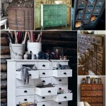 Cupboards and drawers with many small drawers