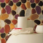 Beautiful inlaid walls of the bathroom