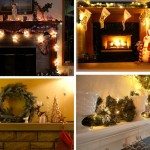 Decorating the fireplace for Christmas