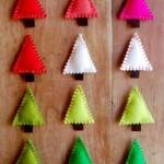 Homemade Christmas ornaments made of felt
