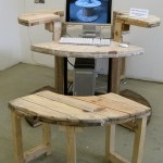 Computer table and other useful stuff from a wooden cable reels