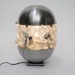 Lamp made of unnecessary utensils