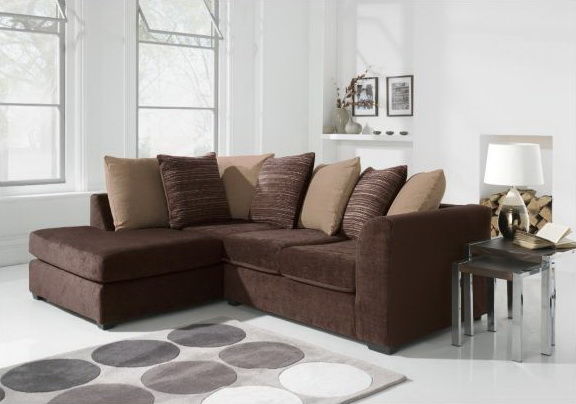 Cheap brown fabric corner sofa sofa menzilperde net for Corner sofa living room designs