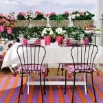 Flowering balconies and terraces