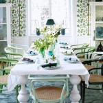 Interior room in spring colors