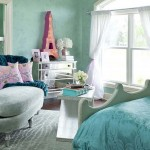 Turquoise children's room for girls