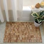 Bath mat from wine corks