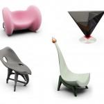 Emoticons furniture from Thomas Ekstroma