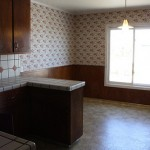 The kitchen- before and after
