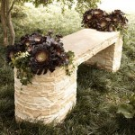 Stone benches for the garden.