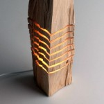 Wooden lamps and sculptures