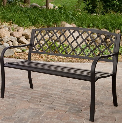 2 metal bench - Cast Iron Garden Furniture: Vintage Inspiration and Antique Look