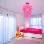 Beautiful chandelier in interior