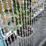 Curtains made of beads, beads and improvised