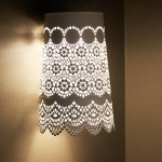 A beautiful night light in the style of Shabby chic