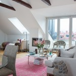 The cozy loft apartment in Stockholm