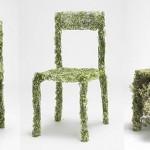 Green furniture in the interior