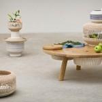Wooden desk with storage capacities