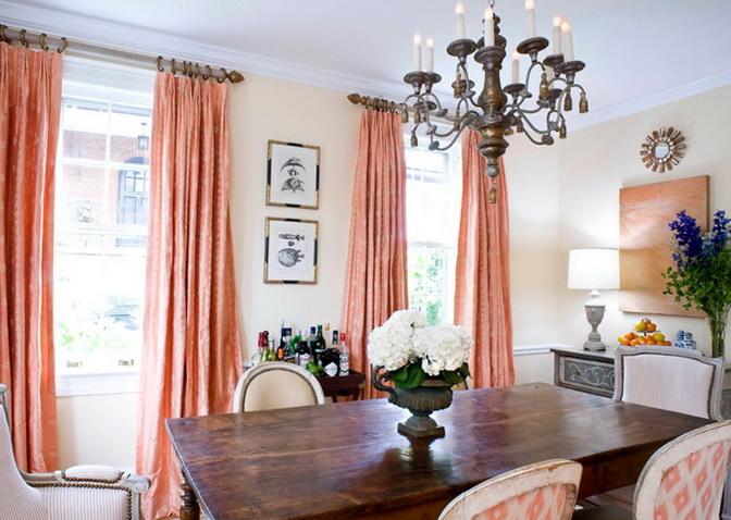 Attractive Gentle Peach Color In The Interior Ideas For Home Garden Bedroom
