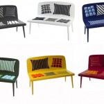 Bright bench by designers from Alessandra Baldereschi Design Studio