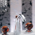 Fashionable and beautiful faucets with crystal handles
