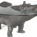 Glass tables - Happy Hippo