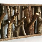 Eco wooden hooks for clothes